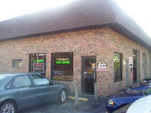 Distler's Auto Repair storefront. Your local Al's Automotive in Shiloh, IL.