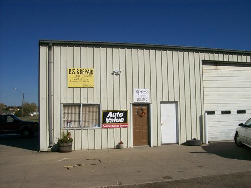 B B Repair storefront. Your local The Merrill Co. in Lindsay, NE.