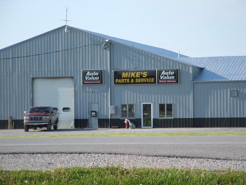 Mike's Parts & Service storefront. Your local The Merrill Co. in Richland, IA.
