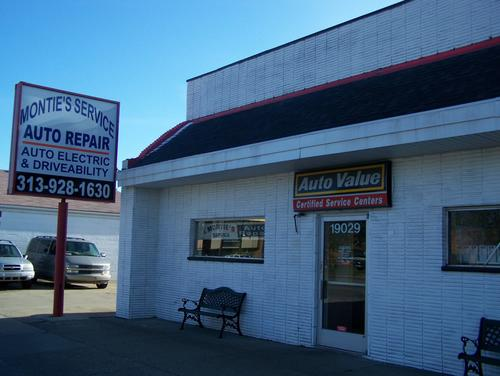 Montie's Service storefront. Your local Auto-Wares, Inc in Allen Park, MI.