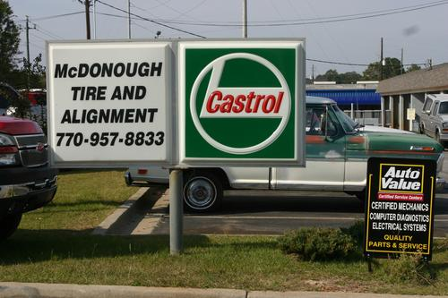 MCDONOUGH TIRE storefront. Your local White Brothers Warehouse, Inc. in McDonough, GA.