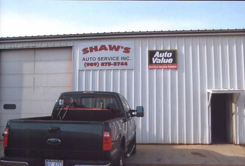 Shaw's Service Center storefront. Your local Auto-Wares, Inc in Ithaca, MI.