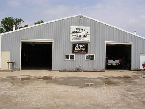 Myers Automotive storefront. Your local The Merrill Co. in Orion, IL.