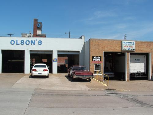 Olson's Auto Service storefront. Your local The Merrill Co. in Moline, IL.