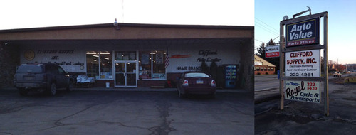 Clifford Auto Center storefront. Your local Hahn Automotive Warehouse in Clifford, PA.