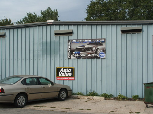 Central Automotive storefront. Your local The Merrill Co. in Lake Mills, IA.