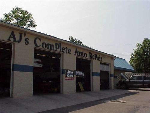 AJ's Complete Auto Repair storefront. Your local Hahn Automotive Warehouse in Fairborn, OH.