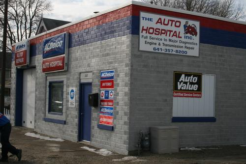 The Auto Hospital storefront. Your local The Merrill Co. in Clearlake, IA.