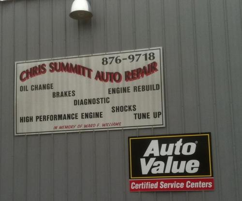 Summitt Auto Repair storefront. Your local Hahn Automotive Warehouse in Spencer, IN.