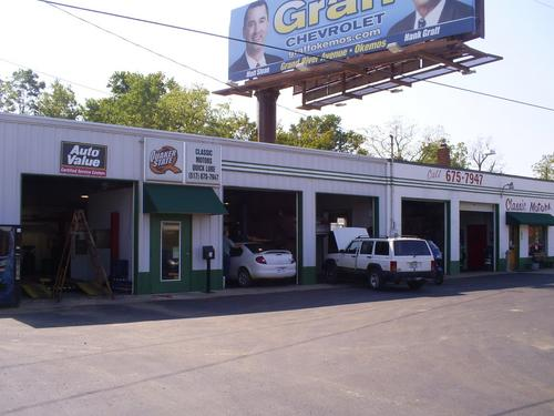 Classic Motors Sales and Service storefront. Your local Auto-Wares, Inc in Perry, MI.