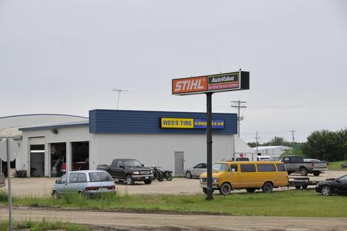 Wes's Tire Shop storefront. Your local Piston Ring Service Supply in Carman, .