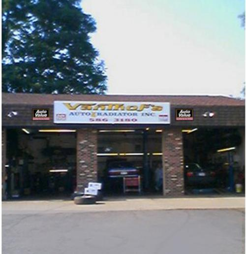 VanThof's Auto & Radiator Inc. storefront. Your local Hahn Automotive Warehouse in East Rochester, NY.