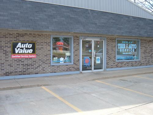 Holly Tire and Auto Repair storefront. Your local Auto-Wares, Inc in Holly, MI.