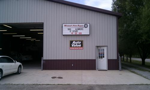 Wieland's Auto Repair storefront. Your local Auto-Wares, Inc in Bryan, OH.