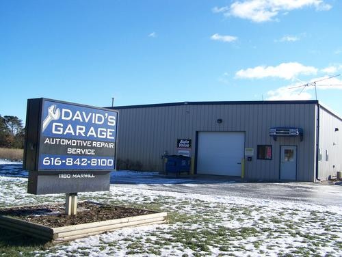 David's Garage storefront. Your local Auto-Wares, Inc in West Olive, MI.