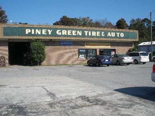 Piney Green Tire & Auto storefront. Your local Hahn Automotive Warehouse in Jacksonville, NC.