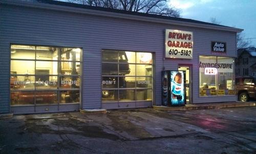 Bryan's Garage storefront. Your local Auto-Wares, Inc in Hillsdale, MI.