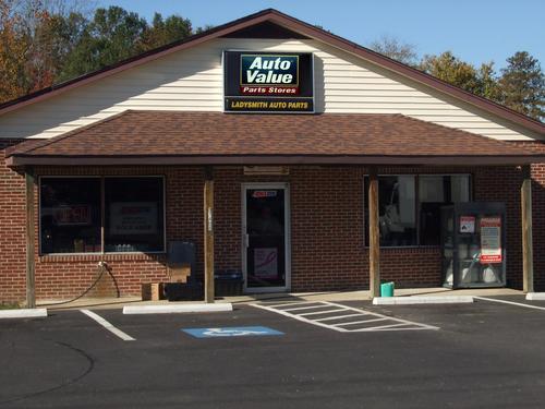 Ladysmith Auto Parts storefront. Your local Hahn Automotive in Lady Smith, VA.