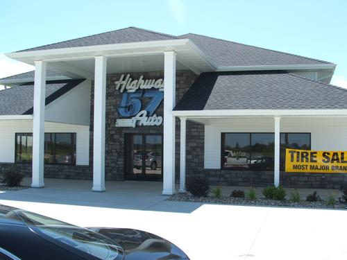 Highway 57 Auto storefront. Your local The Merrill Co. in Parkersburg, IA.
