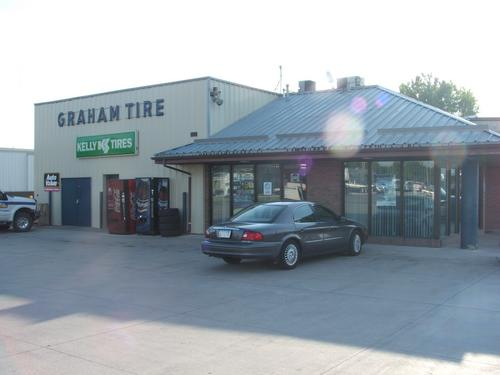 Graham Tire storefront. Your local The Merrill Co. in Storm Lake, IA.