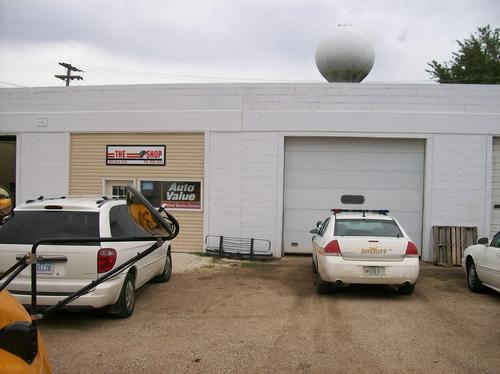 The Shop storefront. Your local The Merrill Co. in Graettinger, IA.