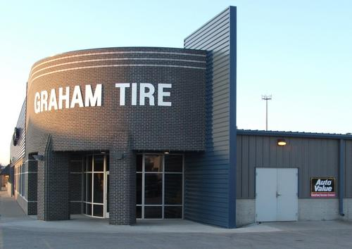 Graham Tire storefront. Your local The Merrill Co. in Spencer, IA.