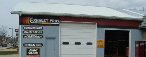 Exhaust Pros storefront. Your local The Merrill Co. in Spencer, IA.