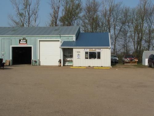 B&K Auto Salvage storefront. Your local The Merrill Co. in Fairmont, MN.