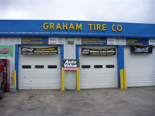 Graham Tire storefront. Your local The Merrill Co. in Sioux City, IA.