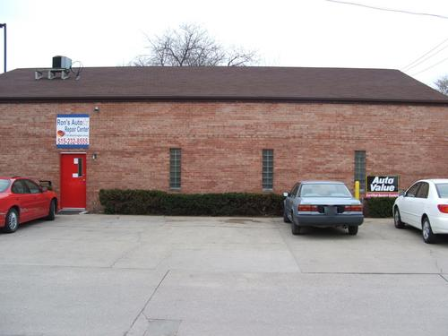 Ron's Auto Repair Center storefront. Your local The Merrill Co. in Ames, IA.