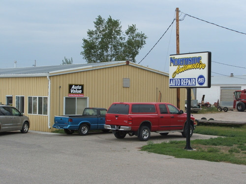 Northside Automotive storefront. Your local Merrill Company in Garner, IA.